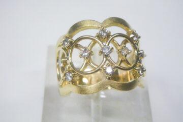 ダイヤモンド ダブルリング