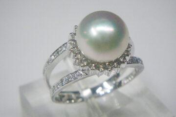 真珠ダイヤリング