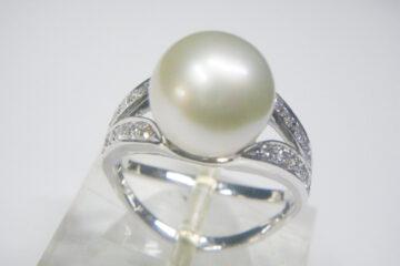 真珠&ダイヤ フィットリング