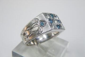 Ptブルーダイヤモンドリング