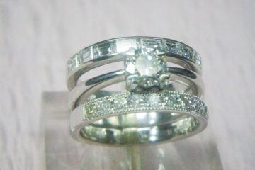 ダイヤモンド3点セットリング